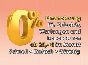 0% Finanzierung Werkstatt