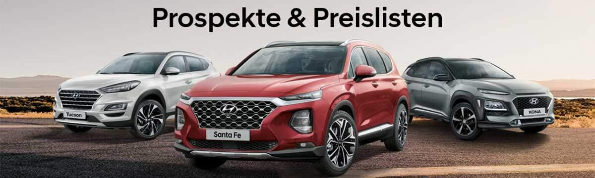 Hyundai Prospekte Preislisten